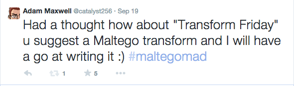 Maltego: My First Transform (1/6)